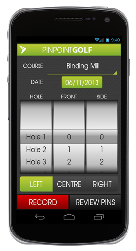 MyPinpoint Golf | Capturing Pin Placements to enhance your golfer's